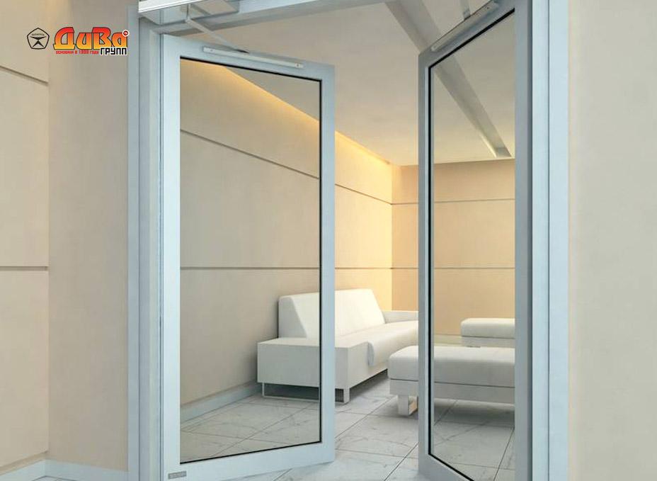 Стеклянные двери Алютех межкомнатные и входные